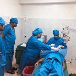 Performing cataract surgery